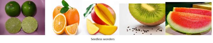 seedless fruits